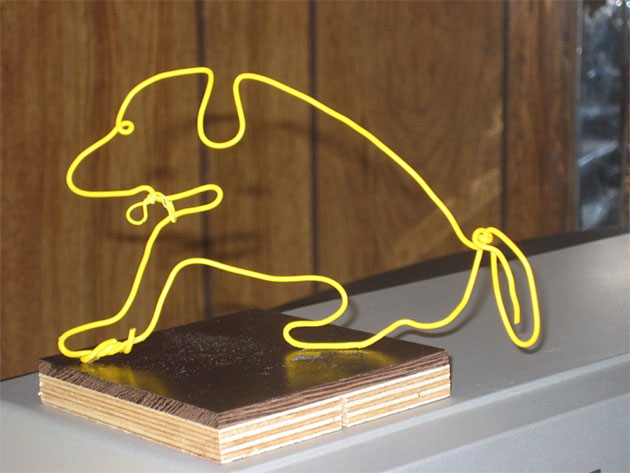 Taffy, a wire sculpture by OLLI member Elaine Andrews